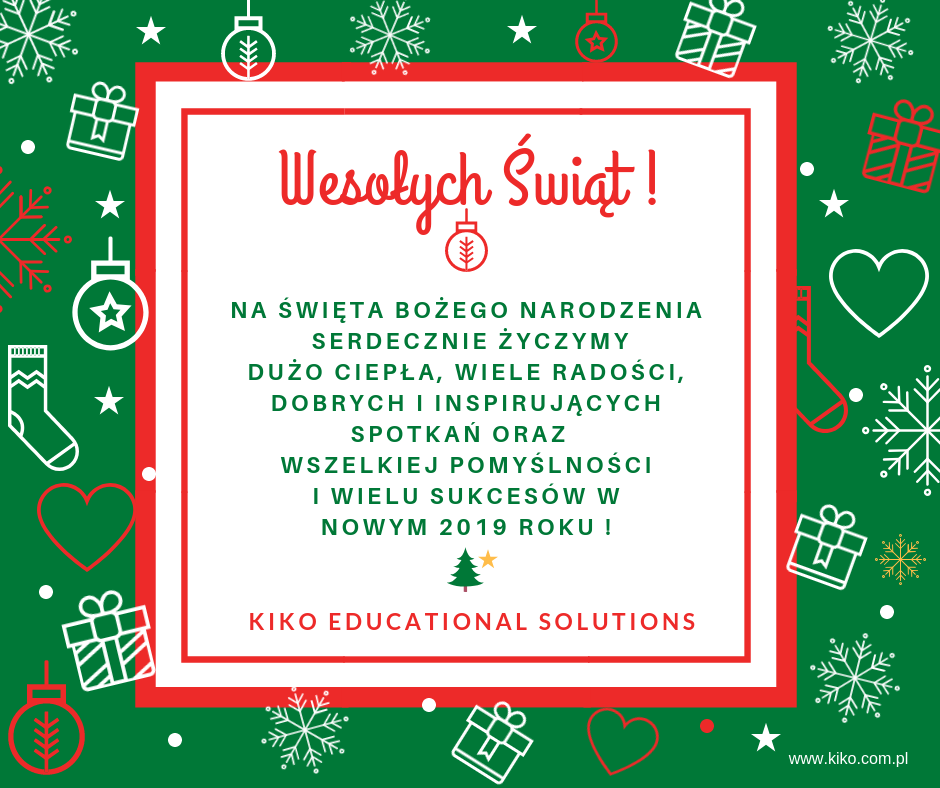 Wesołych Świąt od KIKO Educational Solutions 2018